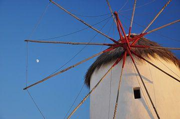 Griekse windmolen Mykonos sur MattScape Photography