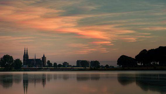 Cuijk at the river Maas
