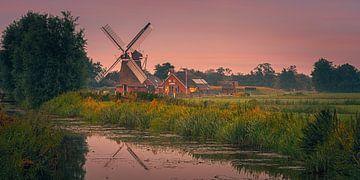 Zonsondergang bij Poldermolen de Eendracht van Henk Meijer Photography