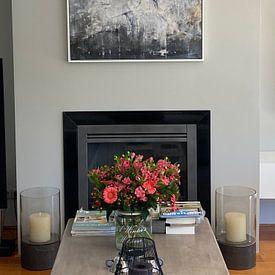 Klantfoto: Helene (gezien bij vtwonen) van Atelier Paint-Ing, op canvas