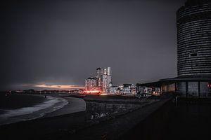 Vlissingse Boulevard bij nacht van Eugenlens