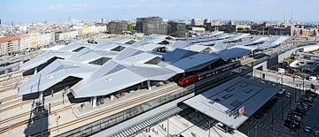 Wenen Centraal Station van Leopold Brix