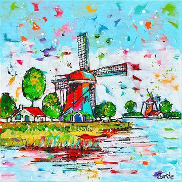 moulin à vent sur Corrie Leushuis