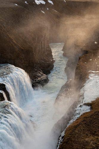 Waterval - Gullfoss sur Irene Hoekstra