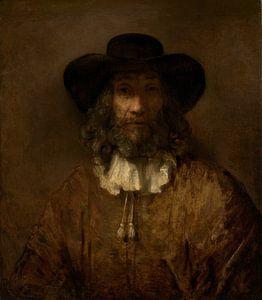 Man met een baard, de stijl van Rembrandt van