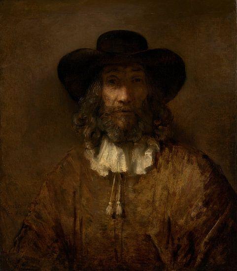 Man met een baard, de stijl van Rembrandt van Meesterlijcke Meesters