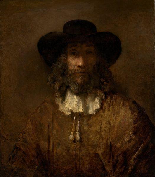 Man met een baard, de stijl van Rembrandt