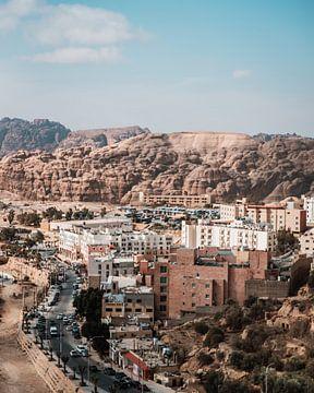 Ville en Jordanie à côté de Petra sur Dayenne van Peperstraten
