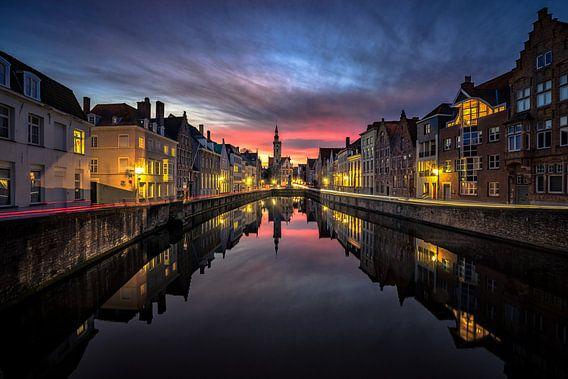 Night and day in Brugge van Remco van Adrichem