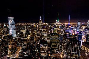 New York City skyline avond uitzicht vanuit Top of the Rock