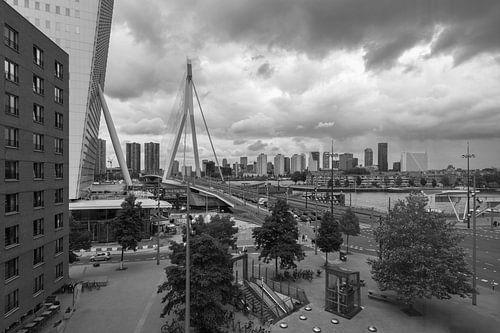 Het uitzicht op het Wilhelminaplein in Rotterdam van MS Fotografie