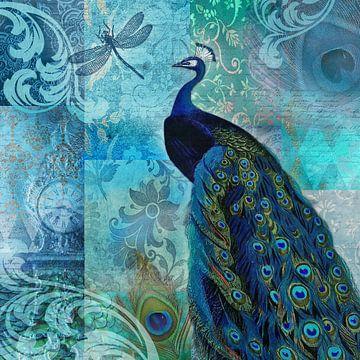 Blauer Pfau von christine b-b müller