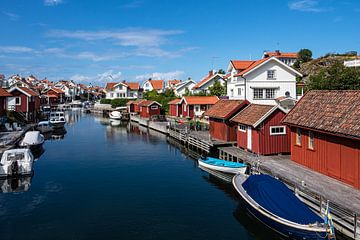 Blick auf den Ort Grundsund in Schweden von Rico Ködder