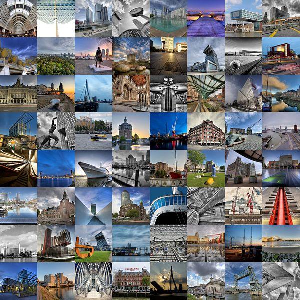 Fotocollage met alle highlights van Rotterdam van Esther Seijmonsbergen
