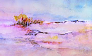 Baumgruppe mit Pink von Claudia Gründler