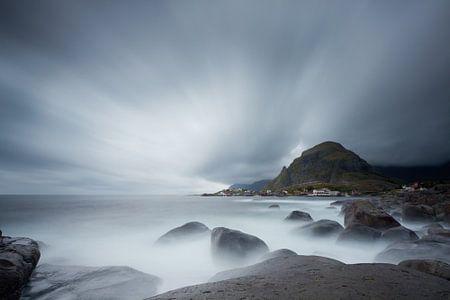 Regendag op de Lofoten Noorwegen