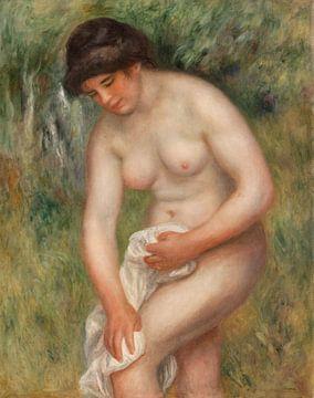 Badende Frau beim Abtrocknen, Pierre-Auguste Renoir (1901-1902) von Atelier Liesjes