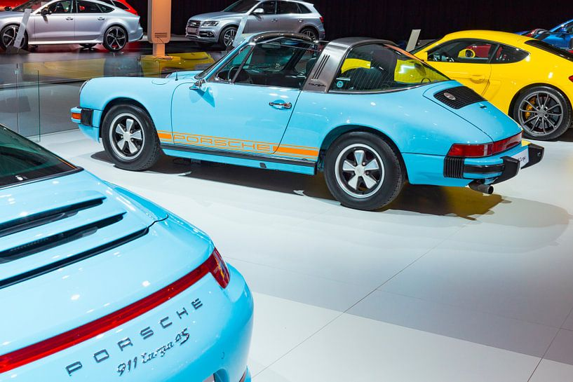 Classic 1974 Porsche 911 Targa Sportwagen Rückansicht von Sjoerd van der Wal