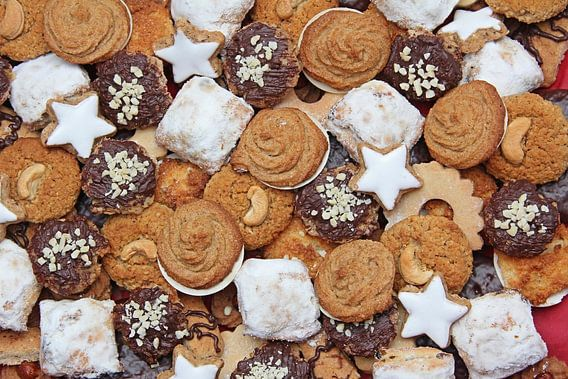 assortment of handmade wholemeal cookies