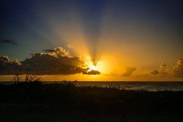 Zonsondergang op Aruba van René Rietbroek