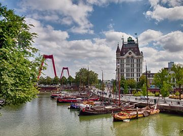 De oude haven in Rotterdam. van Hille Bouma