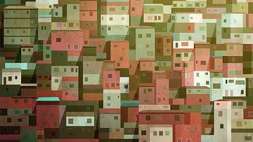 Favela huisjes van Govart (Govert van der Heijden)