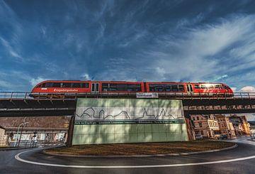 Erzgebirgsbahn kruist het viaduct van Schwarzenbach van Johnny Flash