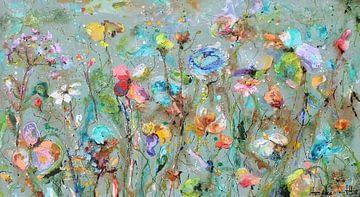 Champ de fleurs sauvages sur Atelier Paint-Ing