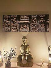 Klantfoto: Vier eeuwenoude danseressen en Ganesha van Affect Fotografie, op canvas