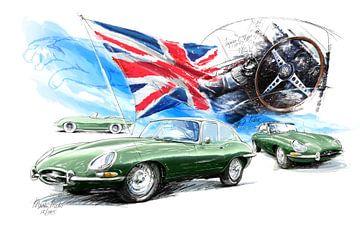 Jaguar e-Type (1961) van Martin Melis