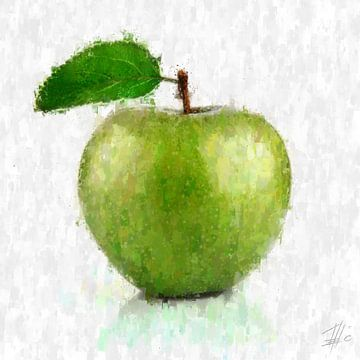 Grüner Apfel von Theodor Decker