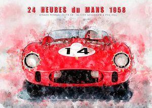 Le Mans winnaar 1958 van Theodor Decker