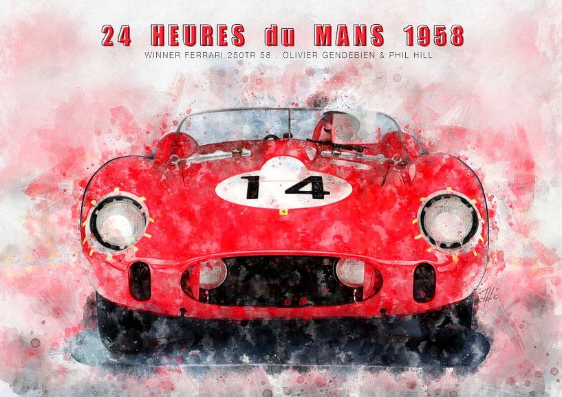 Le Mans Sieger 1958 von Theodor Decker