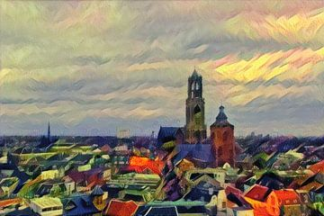 La chaude ligne d'horizon d'Utrecht sur Slimme Kunst.nl