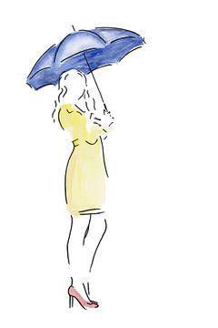 Warten im Regen von Natalie Bruns
