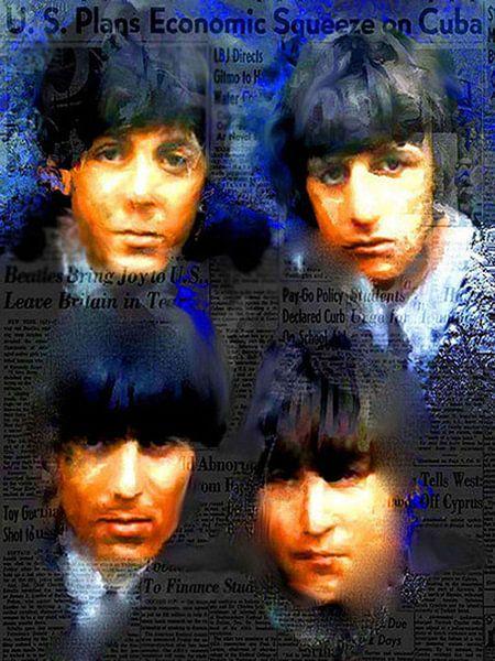 Beatles Four | Beatles Pop Art von Leah Devora