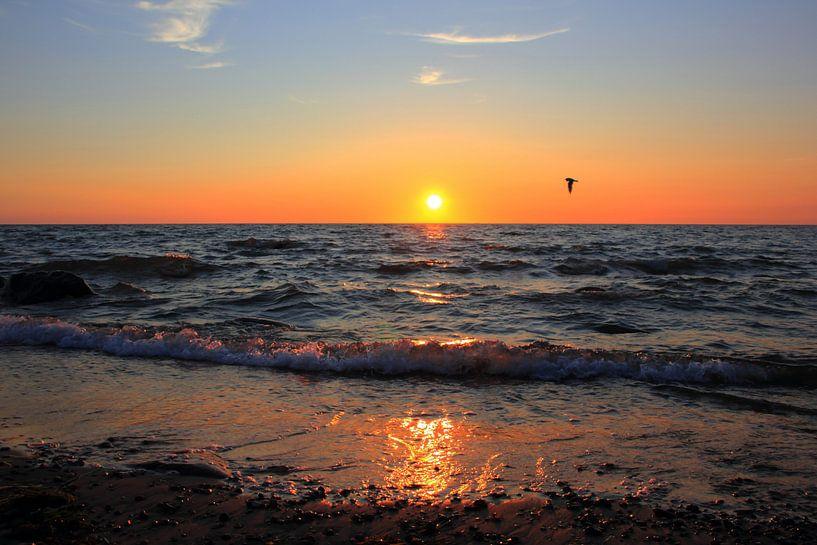 Sunset van Ostsee Bilder