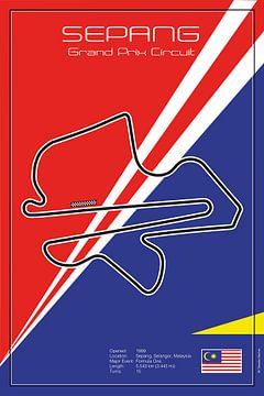 Racetrack Sepang van Theodor Decker