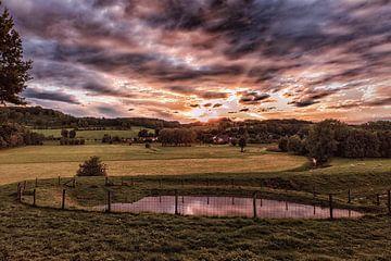 Zonsondergang in Stokhem van Rob Boon
