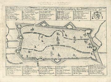 Karte von Utrecht, 1672 von den Franzosen erobert, Gaspar Bouttats, 1672