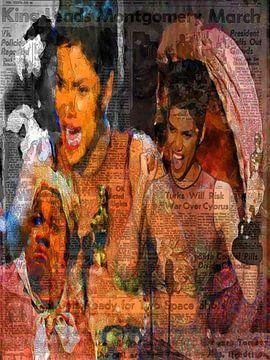 Hally Berry Pop Art Canvas von Leah Devora