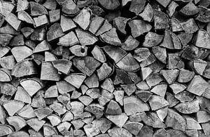 Stapel hout van Wil Vlasveld