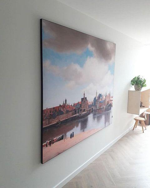 Klantfoto: Gezicht op Delft van Vermeer van Marieke de Koning, op print op doek