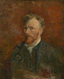 Selbstbildnis mit Glas, Vincent van Gogh von Meesterlijcke Meesters