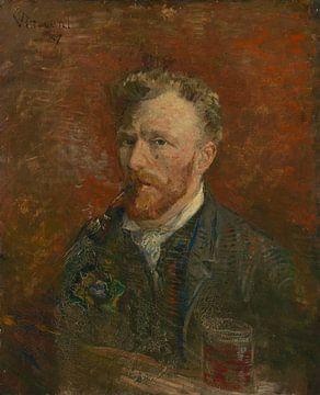 Zelfportret met glas, Vincent van Gogh van