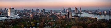 Rotterdam sunset Panorama van Joey Hohage