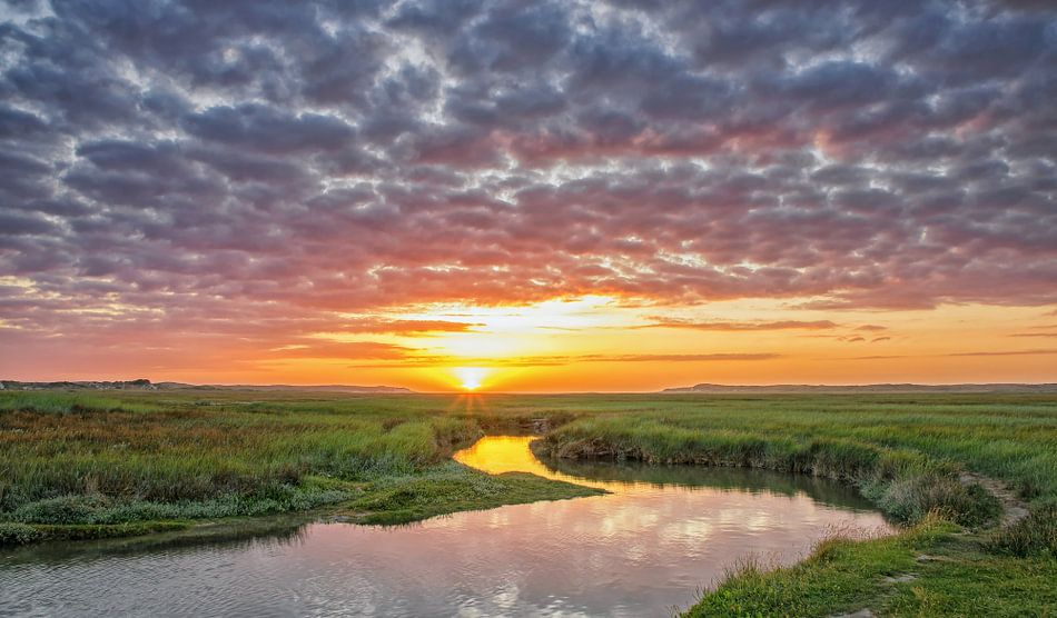 Zonsondergang op Texel / Texel Sunset van Justin Sinner Pictures ( Fotograaf op Texel)
