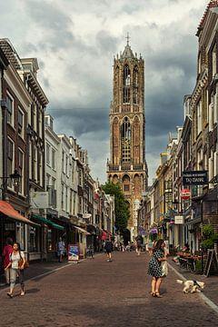 De Dom en de Zadelstraat in Utrecht (kleur) van