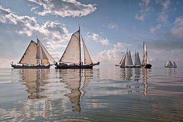 Die Braune Flotte bei Enkhuizen von Frans Lemmens