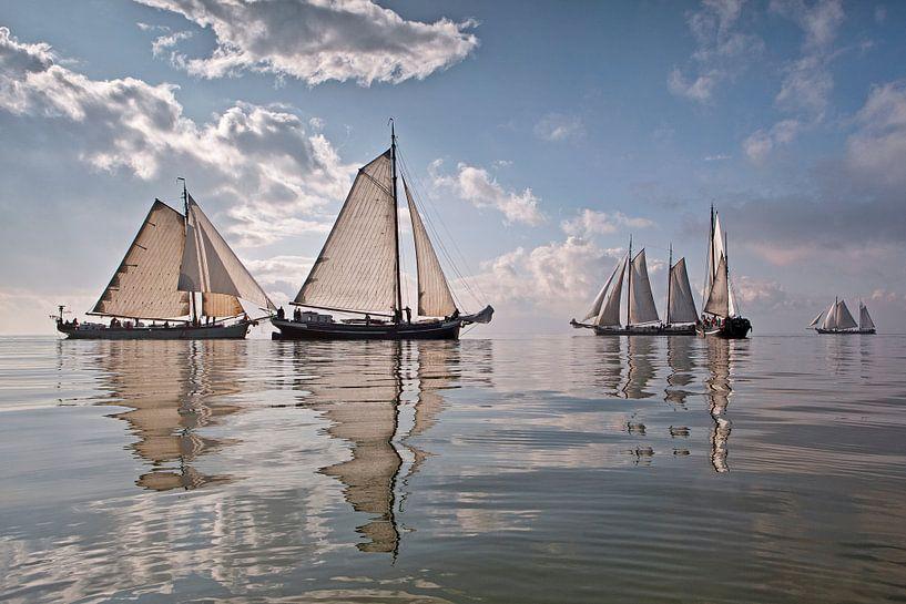 La Flotte Brune près d'Enkhuizen sur Frans Lemmens